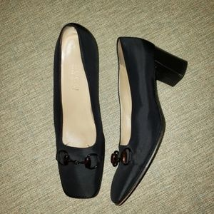 Gucci Black Closed Toe Slip-On Heels Sz 8